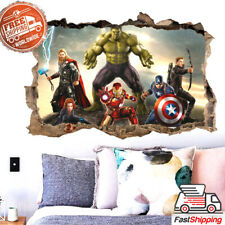 3D PVC Wall Sticker Wall Decal Toy SuperHero Wall decoration For Kids Gift