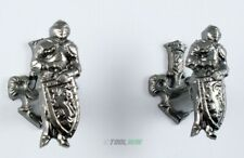 Armored Knight Sword Gun Hanger Wall Hooks Display Coat of Arms Bracket Set