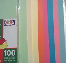 Papier 100 feuilles A4 couleurs assorties pour imprimer, bricolage, origami (V3)