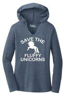 Ladies Save The Fluffy Unicorns Hoodie Shirt Fat Chubby Horse Shirt
