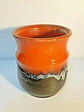 Ellis Pottery Mid Century Fat Lava Vase #482 Australian Studio Artist #2