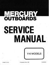 1976-1979 Mercury 150 175 200 225 V-6 2Cycle Outboard Motors Service Manual CD