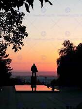 PHOTO STATUE VLADIMIR LENIN FOUNTAIN SQUARE SOVIET SILHOUETTE PRINT BMP11577