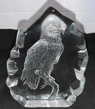 Vintage Bird Handmade Crystal Art Piece Romania By Crystal Sarmis Royal