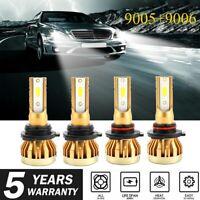 Combo Mini 9005+9006 COB LED Headlight Kit 240W 52000LM Hi-Lo Beam Bulb 6500K #R