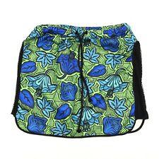 Zara Trafaluc Women's Skirt Blue Green Cotton Blend Floral Print Side Mesh M