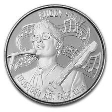 2 oz Silver Round - Uhr American Music Icon Series (Buddy Holly) - Sku #104127