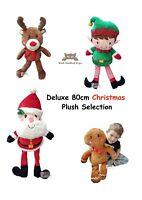Large Christmas Plush Selection Santa Elf Gingerbread Rudolph Reindeer Soft Toy