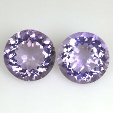 Natural Purple Amethyst Round Cut Pair Brazil Loose Gemstones 13.40 Cts 13 mm