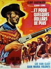 affiche du film ET POUR QUELQUES DOLLARS DE PLUS 60x80 cm