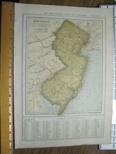 New Listing1907 New Jersey / New York City Maps Showing Towns Rivers Mountains Railroads