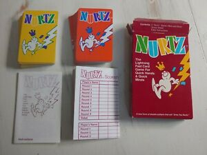 Nurtz Card Game from Bicycle Games 1988 VERY GOOD COMPLETE