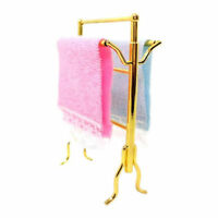 1:12 Scale Dollhouse Miniature Furniture Bathroom Accessory Towels Rack Set