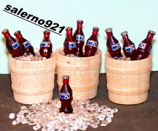 1/2 Wine Barrels Lot Of Three + 10 Pepsi bottles on Ice 1:24 scale Miniarure NEW