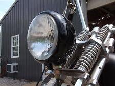 MOTORCYCLE BSA TRIUMPH HARLEY CUSTOM CHOPPER RAT BIKE, RAT ROD HEADLIGHT. BLACK