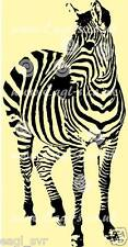 "Vinyl wall art decal "" Zebra"" sticker, very large"