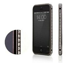 iPhone 5 5S Luxury Aluminum Crystal Rhinestone Diamond Bling Metal Case Bumper