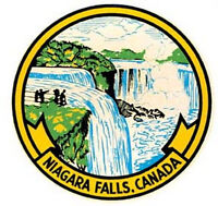 Niagara Falls Canada  Vintage 1950's Style  Travel Decal Sticker Label NY