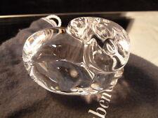 Steuben Crystal Art Glass RAM  Figurine Mint!   WITH POUCH HAND COOLER NEW