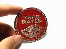 1Pcs For Wrangler Aluminum Red Trail Rated 4X4 Car Sticker Emblem Car Body