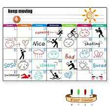 Magnetic Colorful Whiteboard Calendar Dry Erase Board Monthly Plan 16*12 Inches