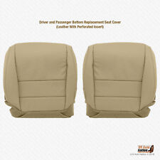 Fits 2008 Acura TL Driver AND Passenger Bottom Perforated Leather Seat Cover Tan