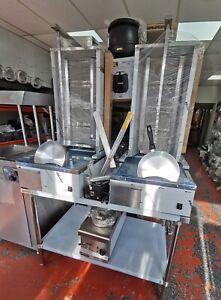Kebab Machine 4 Burner Turkish Made Shawarma Doner Cooker Natural Gas
