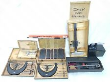 x10 Measuring Equipment JOB LOT Moor&Wright Mitutoyo Calipers Shadow Protractor
