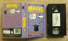MAGIC - TRICKS OF THE TRADE - MAGIC FOR CHILDREN - TEACH YOURSELF - VHS VIDEO