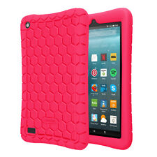 For Amazon Fire 7 / HD8 2017 2015 ShockProof Silicone Case Kids Friendly Cover
