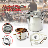 30L 8Gal Alcohol Distiller Moonshine Water Still Wine Making Boiler DIY Set Home