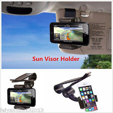 Universal Car Sun Visor Phone Clip Holder Mount Stand For Mobile Phone GPS PDA