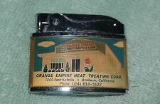 AW-049 - Orange Empire Heat Treating Corp Advertising Cigarette Lighter, 1950's-