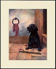 LABRADOR RETRIEVER PUPPY CHARMING DOG PRINT MOUNTED READY TO FRAME