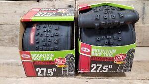 "2 X Bell Mountain Bike Tire 27.5"" x 1.95""-2.10"" Flat Defense Black NEW Pair"