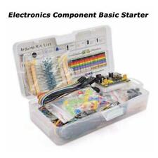 Electronic Component Starter Kit Wires Breadboard Led Transistor Buzzer New