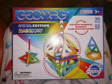 VERY RARE GEOMAG 806 SPECIAL EDITION RAINBOW SET  36 PIECES NEW SEALED COLOURS