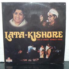 Lata Kishore Live at London Wembley 2 LP Vinyl Records Bollywood Hindi Indian NM