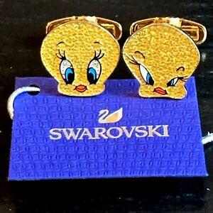 Swarovski 5488598 Looney tunes Tweety Bird cufflinks NIB