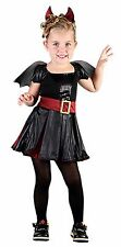 BAT BEAUTY VAMPIRE GIRLS FANCY DRESS HALLOWEEN CHILDREN PARTY COSTUME 5-6