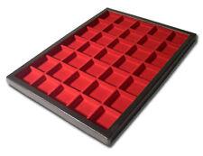 1 35 Division Red Display Case Box British German US Italy WW2 Cap Badge Pin