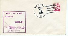FFC 1979 First Flight Detroit Toledo Michigan Ohio US Postal Service