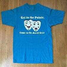 Vintage 1987 Mardi Gras Shirt M - Pointe Hilton Phoenix Arizona Party Masks