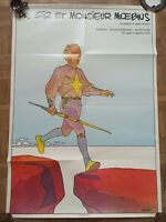 Affiche Dr Gire et Monsieur Moebius Jean Giraud Poster 100x70 cm 1984 pliée en 8