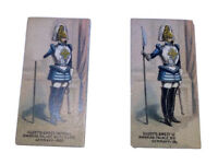 1880 Kinney Tobacco Cards Military Set Of Two (2) Bavarian Palace Body Guard