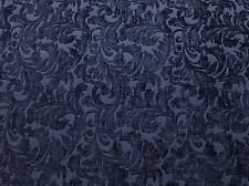 """Chenille fabric Upholstery Indigo floral Shelby Drapery home the yard 56"""" Wide"""