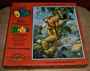 JIGSAW PUZZLE Jack And The Beanstalk Scott Gustafson 1995 Ceaco Sealed 500 pc