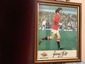 """Signed autographed picture of George Best by """"Autographed Editions""""."""