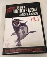 The Art Of Character Design with David Colman  Vol 1 (DVD) Very Good