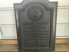 Old 1937-44 Bronze Safety Trophy Plaque Baltimore Gas & Electric Light & Power